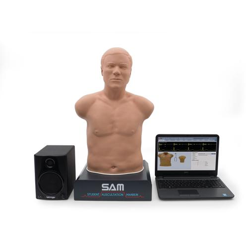 SAM 3G® Student Auscultation Manikin with real and simulated sounds, 1021554, Auscultation