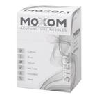 MOXOM Steel  - 0.20 x 15 mm - Uncoated - 100 needles, 1022120, Uncoated Acupuncture Needles