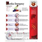 Cardiac Emergency Chart - Laminated, 1018419 [W59503], Emergency and CPR